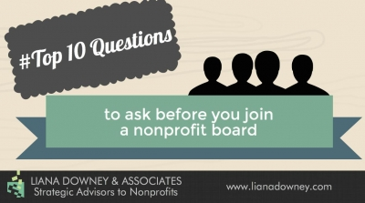 10 questions you should ask before you join a nonprofit board
